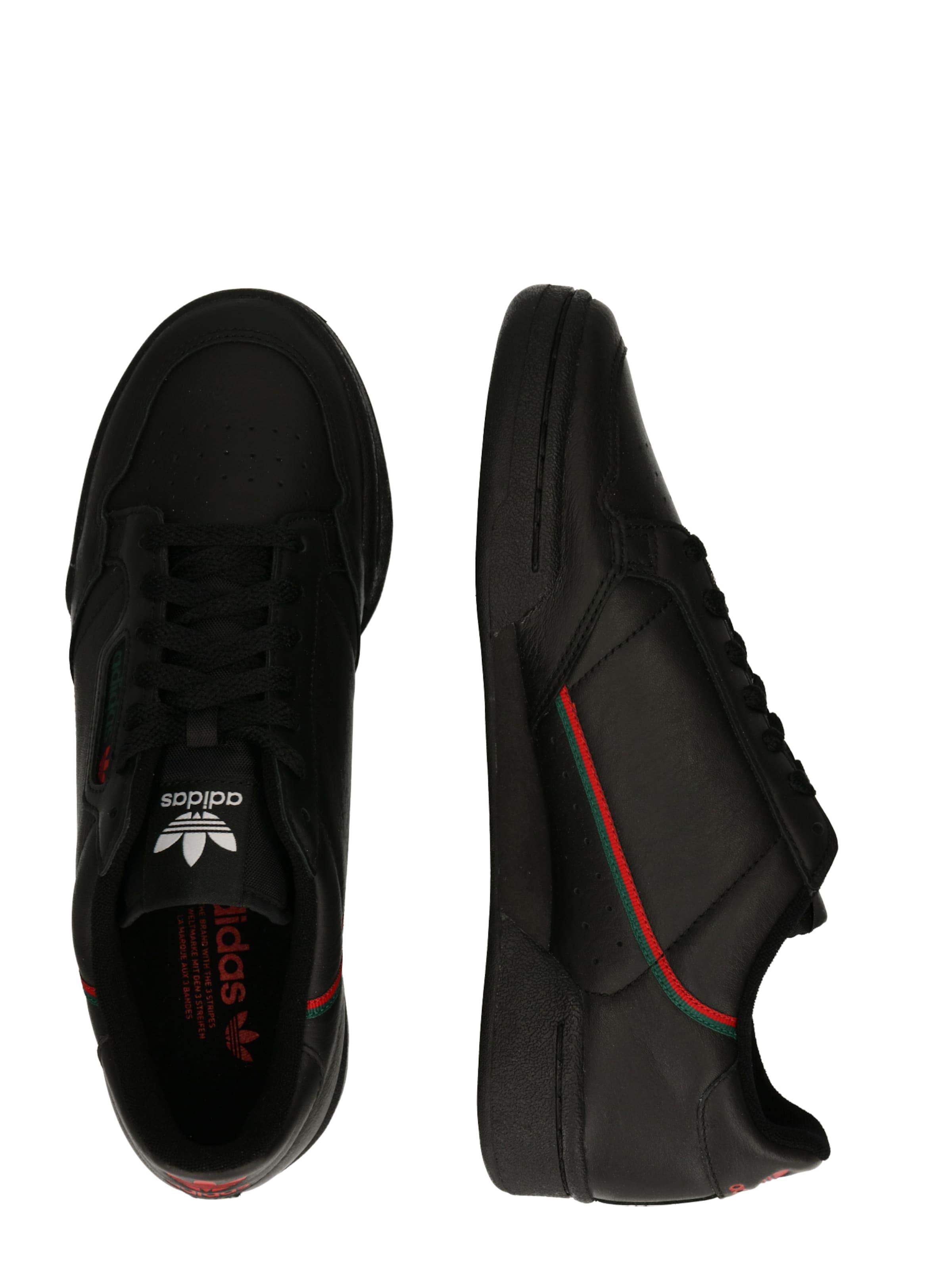 Adidas Weiß GrünRot In Schwarz Originals Sneaker 'continental 80' 3j5LAc4Rq
