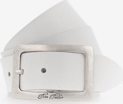 TOM TAILOR Gürtel in silber / naturweiß, Produktansicht