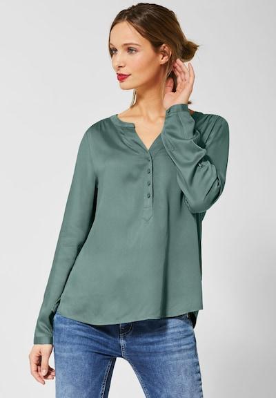 STREET ONE Bluse 'Bamika' in grün, Modelansicht