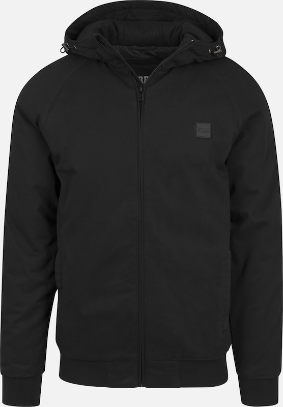 Urban Classics Hooded Jacket in schwarz, Produktansicht