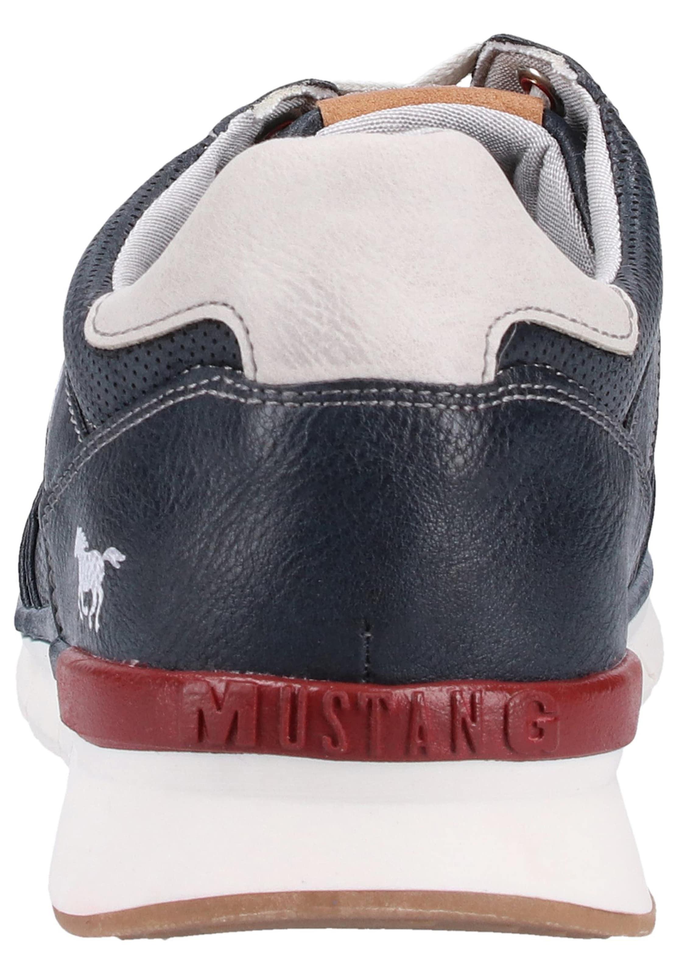 Sneaker Weiß Sneaker Weiß Mustang In In NavyRot NavyRot Mustang 3ALq54Rj