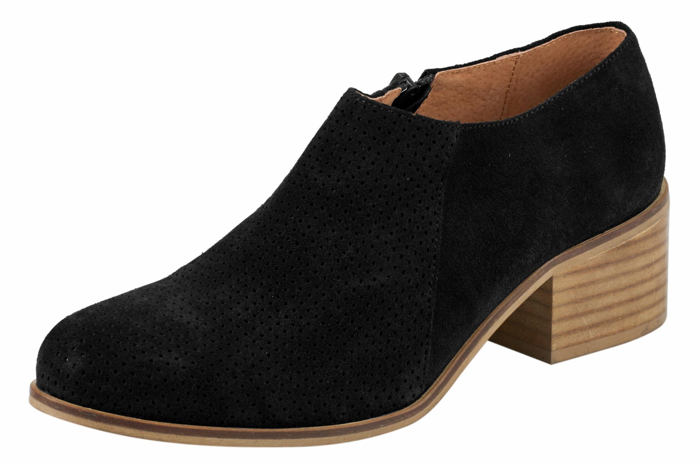 Haltbare Mode billige Schuhe heine | Stiefelette aus Veloursleder Schuhe Gut getragene Schuhe