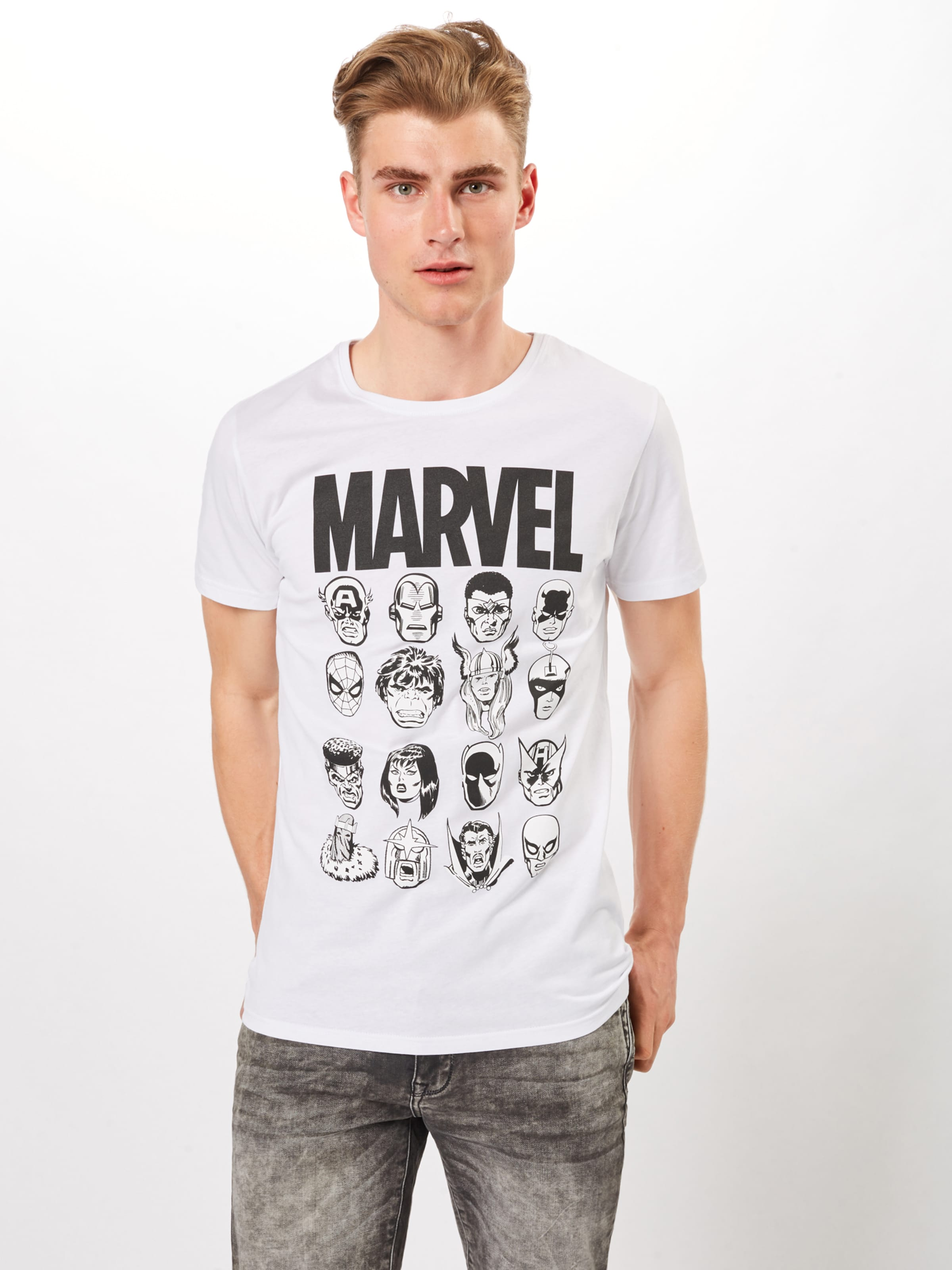 Mister Blanc shirt Tee T 'marvel' En H9DWE2eIYb