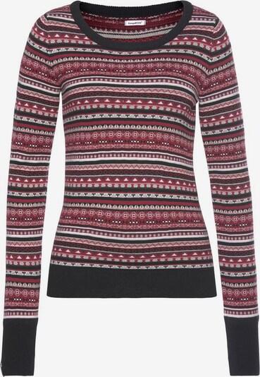 KangaROOS Pullover in rot / schwarz, Produktansicht