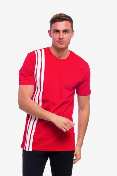 Tom Barron Rundhalsshirt in rot / weiß, Produktansicht