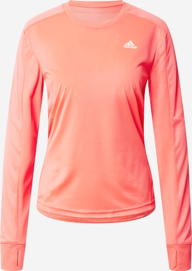 ADIDAS PERFORMANCE Functioneel shirt 'Own the Run' in de kleur Koraal / Wit, Productweergave