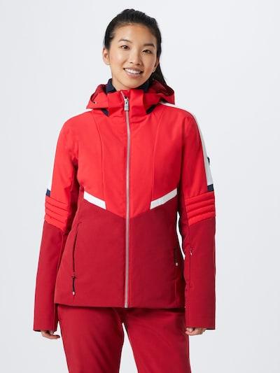 ZIENER Sportjacke 'TADJIA' in rot / dunkelrot / weiß, Modelansicht