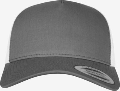 Flexfit Cap '5-Panel Retro' in dunkelgrau / weiß, Produktansicht