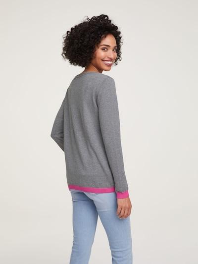 Megztinis iš heine , spalva - margai pilka: Vaizdas iš galinės pusės