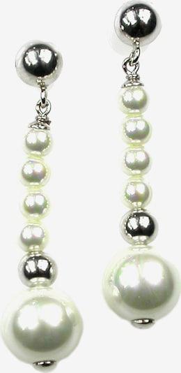 Orquidea Perlenohrringe 'Lavinia' in silber / perlweiß, Produktansicht