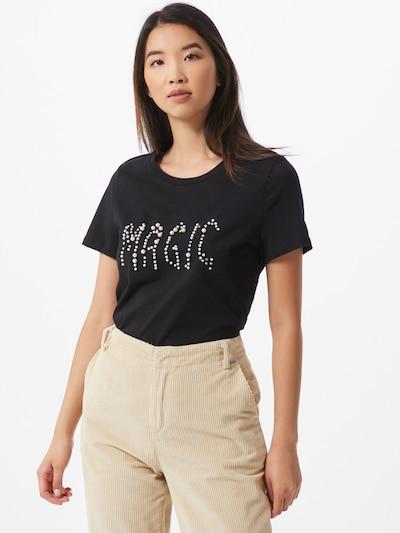 VERO MODA Shirt 'Berit Francis' in de kleur Zwart / Parelwit: Vooraanzicht