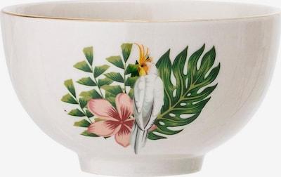 Bloomingville Schüssel 'Moana' in grün / pink / offwhite, Produktansicht