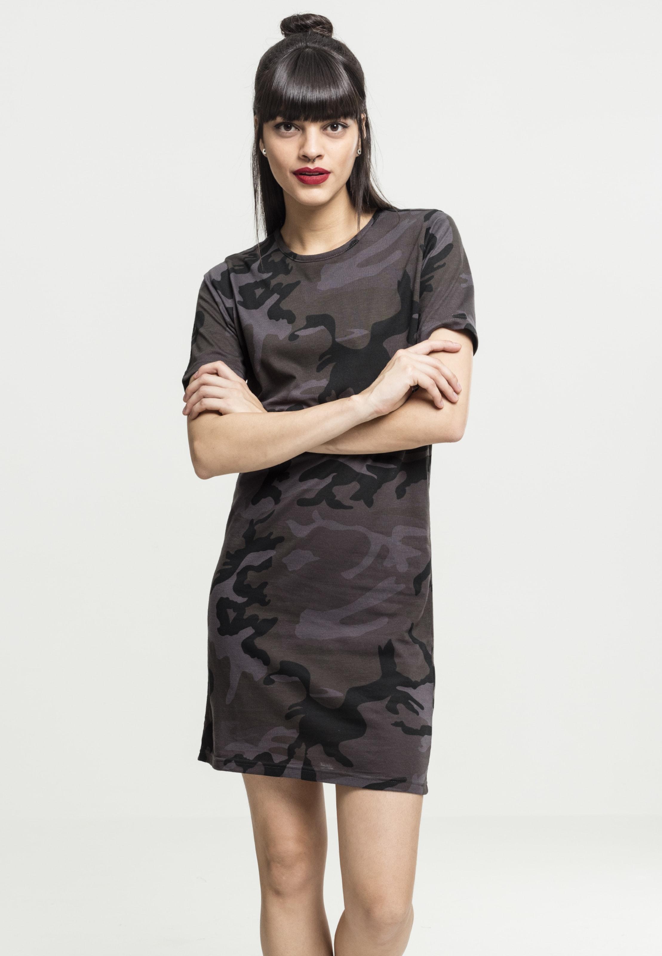 Urban Classics Tee dress In KhakiSchwarz RjLAq534