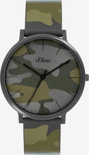 s.Oliver S.Oliver Unisex-Uhren Analog Quarz in grau / grün, Produktansicht
