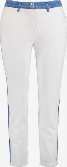 SAMOON Hose Freizeit verkürzt Betty Jeans mit Kontrast-Details in weiß, Produktansicht