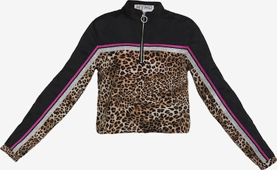 myMo ATHLSR Sportsjakke i brun / lysebrun / mørkebrun / pink / sort, Produktvisning
