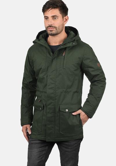 !Solid Winterjacke 'Bello Long' in dunkelgrün: Frontalansicht
