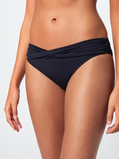 Seafolly Bas de bikini 'Twist' en noir, Vue avec modèle
