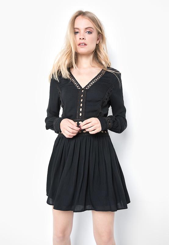 tigha Kurzes Kleid mit Spitzeneinsätzen  ' Tyene '