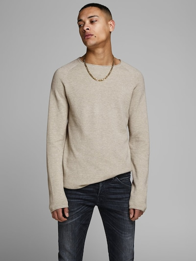 JACK & JONES Pullover in beige: Frontalansicht