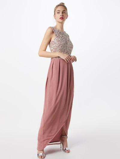 LACE & BEADS Večerné šaty 'Amera Maxi' - ružová / strieborná, Model/-ka