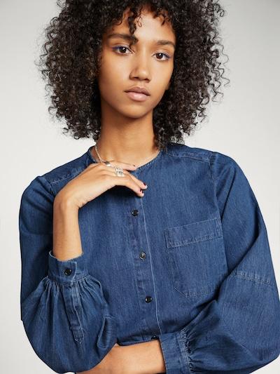 EDITED Shirt 'Karola' in dunkelblau, Modelansicht