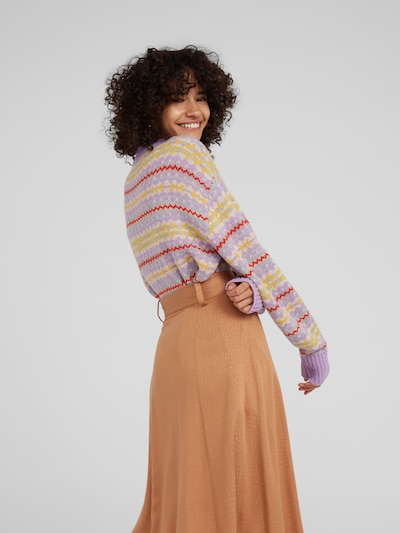 Megztinis 'Cailan' iš EDITED , spalva - purpurinė: Vaizdas iš galinės pusės