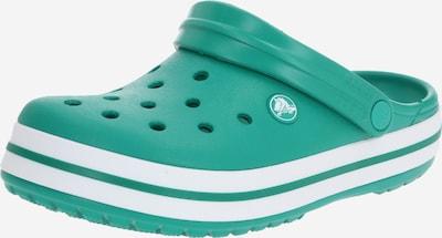 Crocs Clogs in dunkelgrün / weiß: Frontalansicht