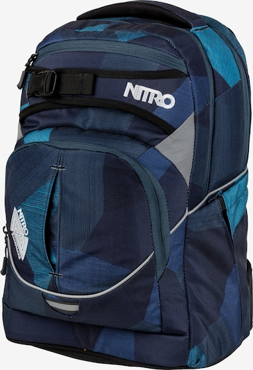 NitroBags Schulrucksack 'Superhero' in blau / nachtblau / himmelblau, Produktansicht
