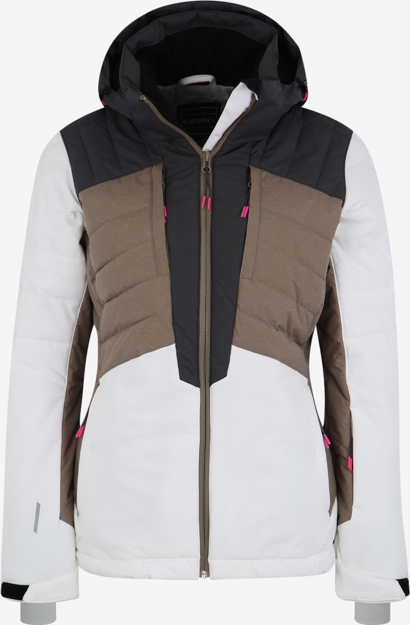 ICEPEAK Sport Jacke 'COLETA' in Taupe Weiß | ABOUT YOU