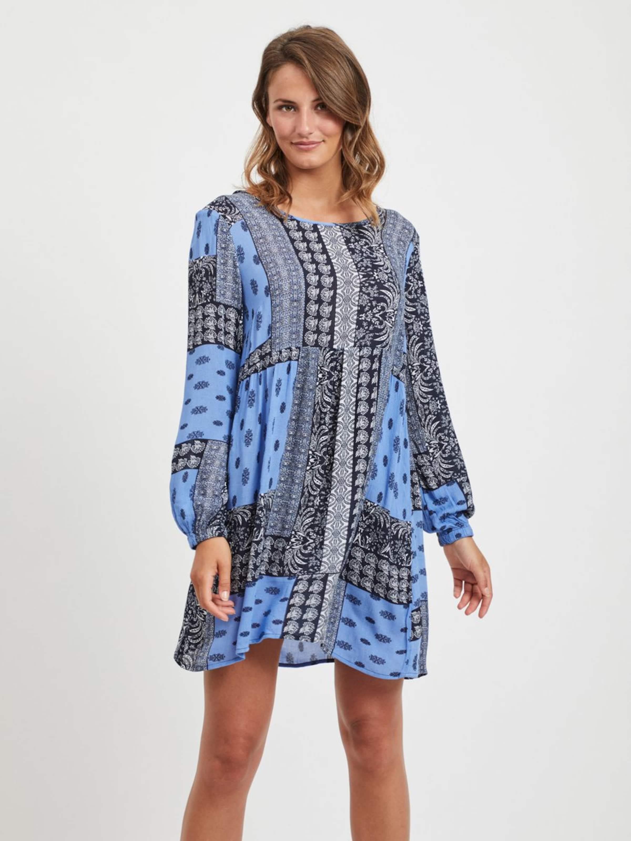 Kleid Vila NachtblauRoyalblau In Weiß 7bg6fy