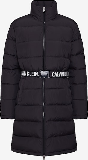 Calvin Klein Jeans Talvemantel 'LONG PUFFER WITH WAIST BELT' must, Tootevaade