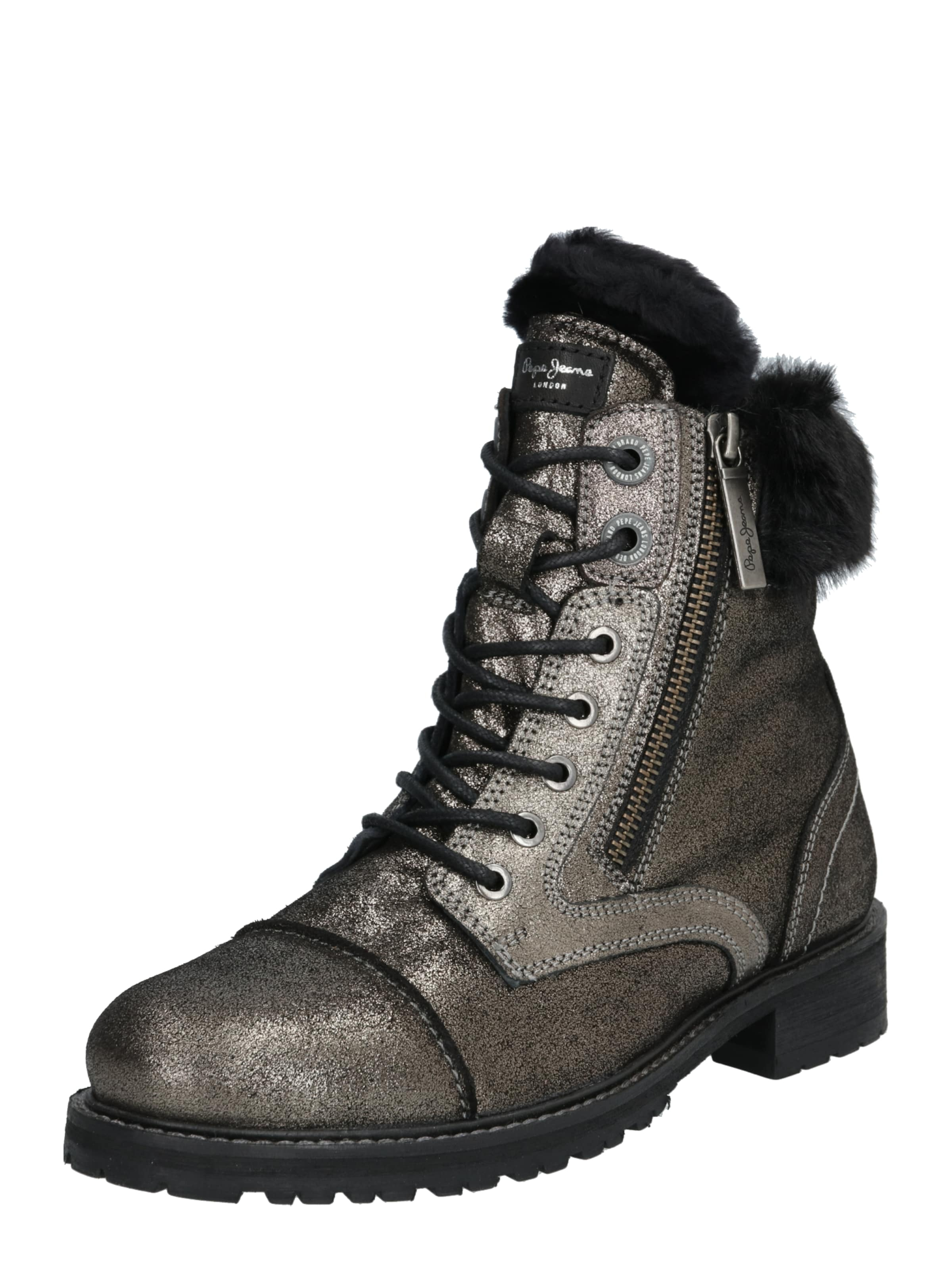 Pepe Jeans Stiefel 'melting bling' in silber