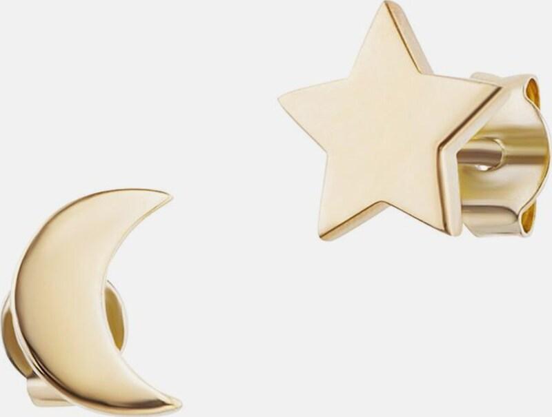caï Paar Ohrstecker 'Halbmond, Stern, moon & stars, C7356E/90/00'