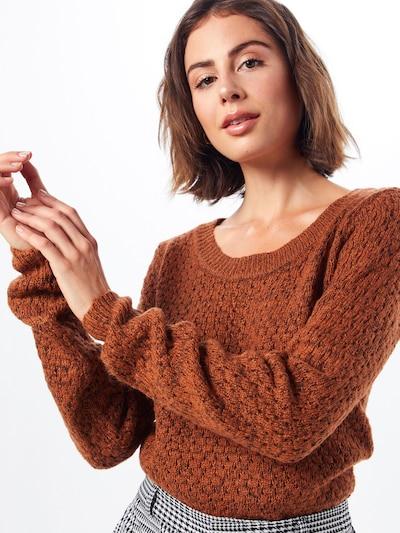 ICHI Strickpullover 'Olanda' in braun, Modelansicht