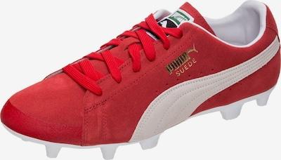 PUMA Fußballschuh 'Future Suede 50 FG/AG' in rot / naturweiß, Produktansicht