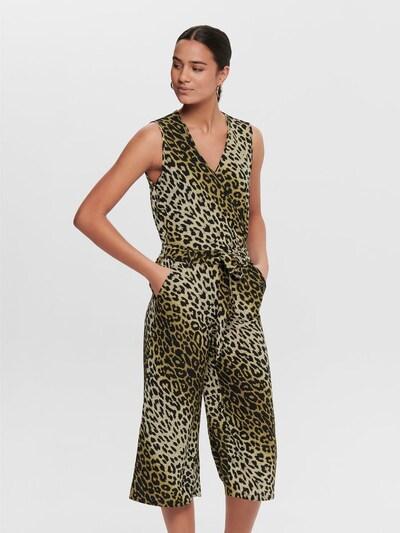 ONLY Jumpsuit in de kleur Beige / Zwart, Modelweergave