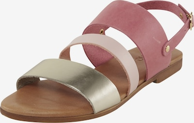 heine Sandalette in gold / rosé / pastellpink, Produktansicht