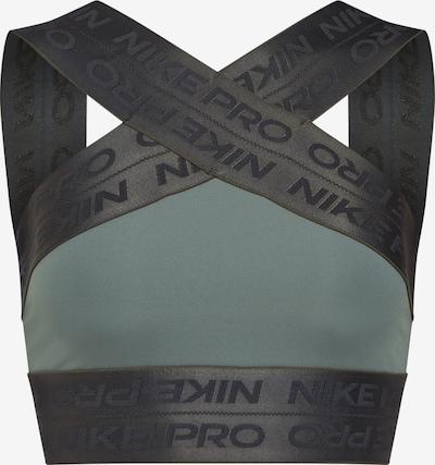 NIKE Sporttop 'NP CAPSULE CROP TANK ELASTIC' in oliv / schwarz, Produktansicht