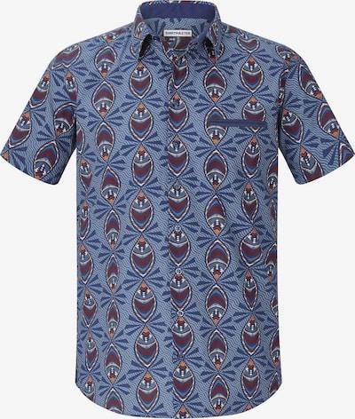 Shirtmaster Chemise 'Peacock' en bleu / marron: Vue de face