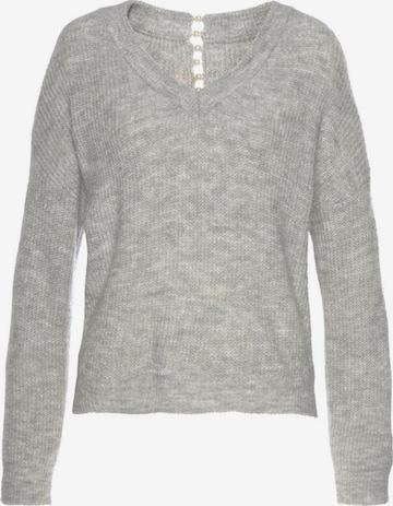 LASCANA Pullover in Grau