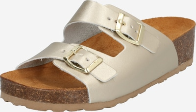 Bianco Pantolette 'Betty' in beige / gold, Produktansicht
