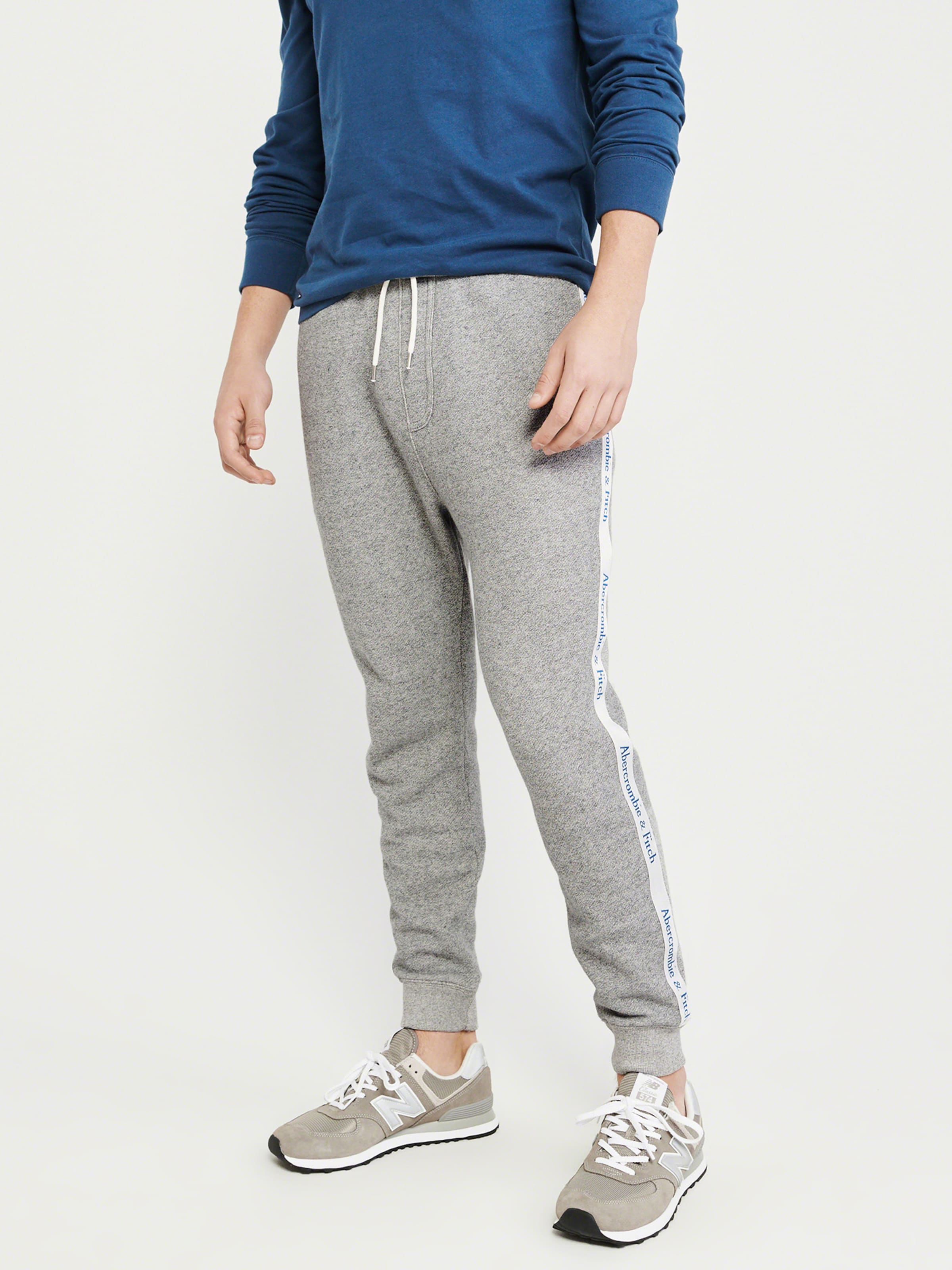 Tape 'side Fitch Hosen Grau Jogger In Abercrombieamp; Grey R02' P0OwN8nkX