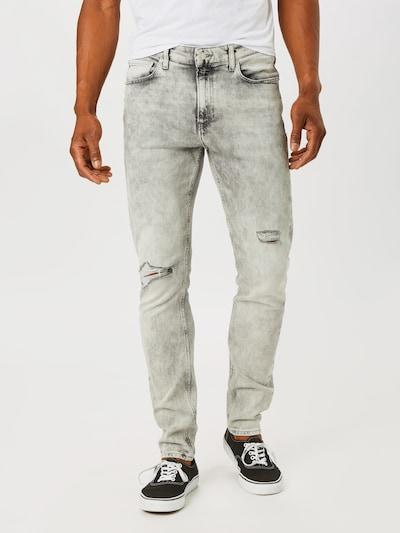 Calvin Klein Jeans Jean en gris denim, Vue avec modèle