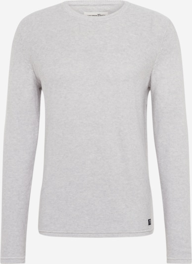 TOM TAILOR DENIM Pullover 'mistake stitch crewneck' in grau, Produktansicht