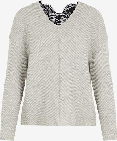 VERO MODA Пуловер 'Buena Lena' в сив меланж / черно, Преглед на продукта