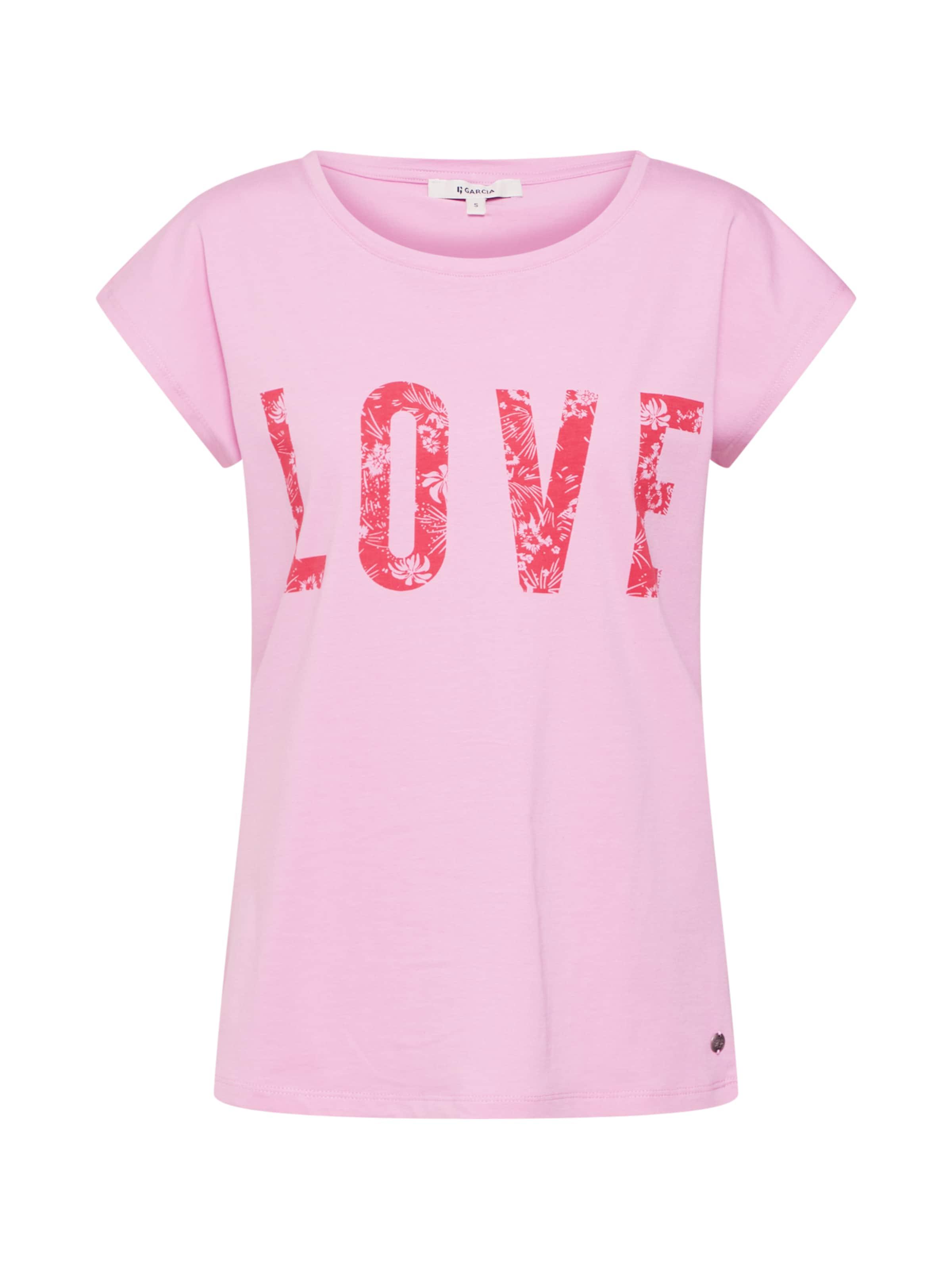 Garcia Garcia En T shirt T RoseRouge m08vNnw