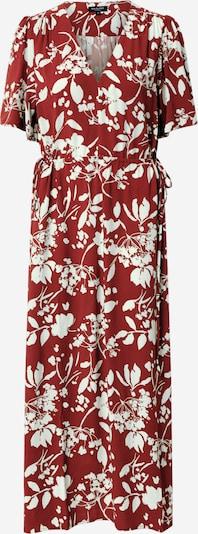 SELECTED FEMME Jurk 'WYNONA-DAMINA' in de kleur Roestbruin / Merlot / Wit, Productweergave