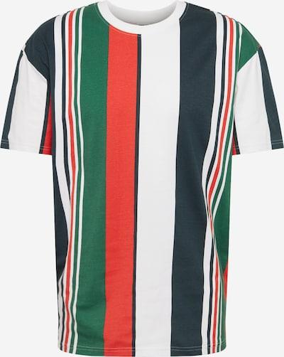 Urban Classics T-shirt i marinblå / grön / röd / vit, Produktvy