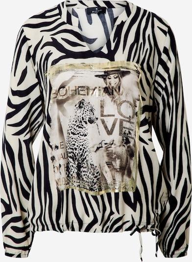 Bluză monari pe bej / negru, Vizualizare produs